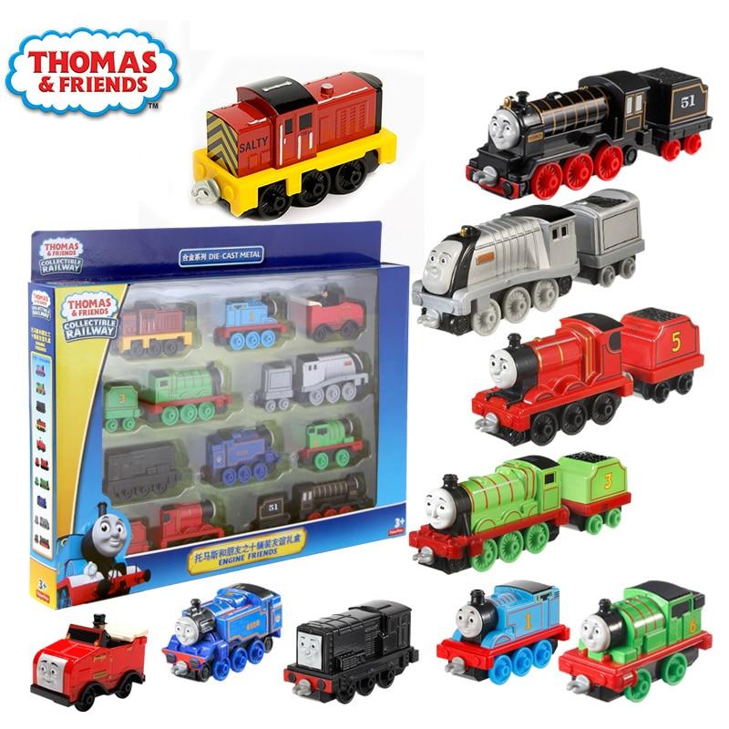 10/trains Original Thomas And Friends Trains alloy  collection trackmaster Train Set For Children Diecast Brinquedos