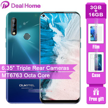"Oukitel C17 Tripleกล้องด้านหลัง 6.35 ""สมาร์ทโฟนMT6763 Octa Core Android 9.0 3GB 16GB 3900MAh face IDโทรศัพท์มือถือ"