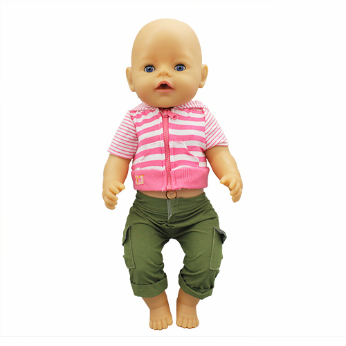 New Suit Doll Clothes Fit 17 Inch 43cm Doll Clothes Born Baby Suit For Baby Birthday Festival Gift
