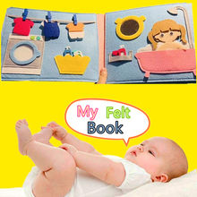 Mom Handmade Sewing DIY Felt Cloth of 16 Pages Montessori Quiet Book Finished Book Kid's Early Education Story Book Toy For Kids