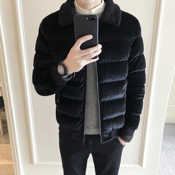 winter new youth popular Korean version of men's casual pure color loose long sleeve trend cotton clothes