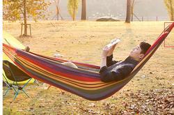 Outdoor Portable Canvas hamak podróżny piknik drewniane krzesło obrotowe na kemping łóżko meble ogrodowe z plecakiem