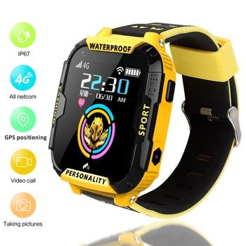 4G Children's IP67 Waterproof Smart Remote Camera GPS WI-FI Kid Student Wristwatch SOS one button help Video Call Tracker Watch
