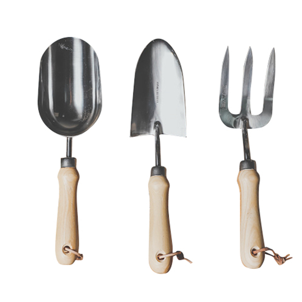 Garden Tool Set 3 Piece Cast-Aluminum Heavy Duty Gardening Kit Includes Hand Trowel Transplant Trowel