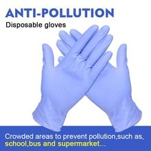 100 pièces gants en Nitrile Latex jetables isolent pour éviter le Contact avec les travaux de cuisine pour la main gauche et droite
