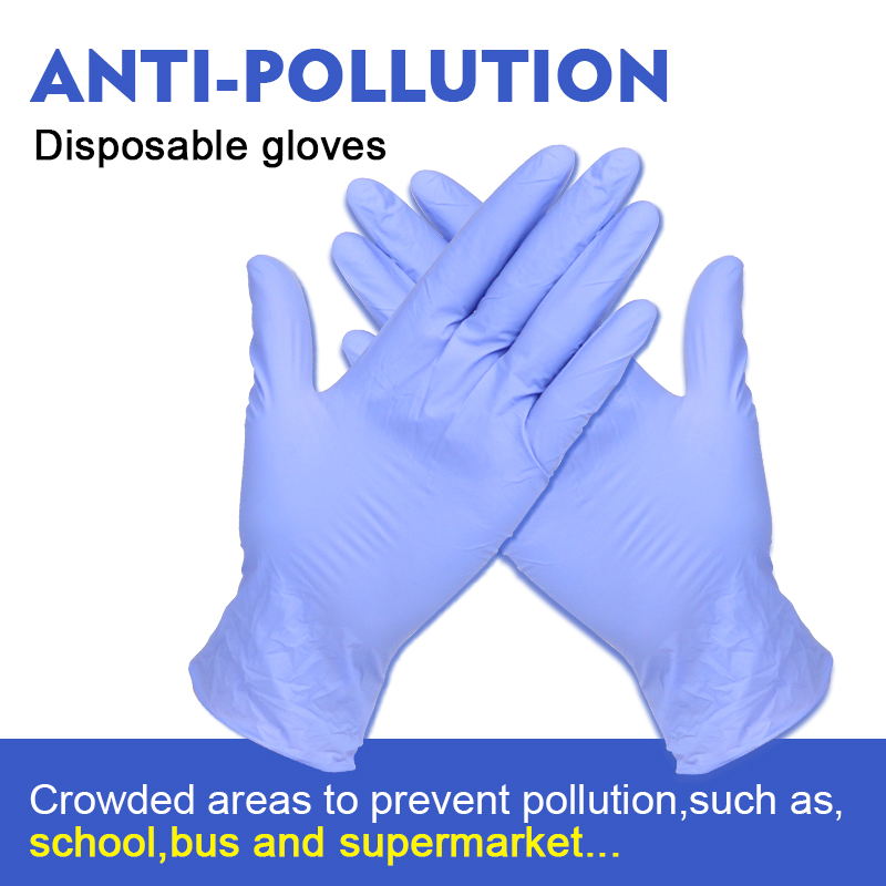 100Pcs Disposable Latex Nitrile Gloves Isolate Anti-Pollution To Avoid Contact With Kitchen Work For Left And Right Hand