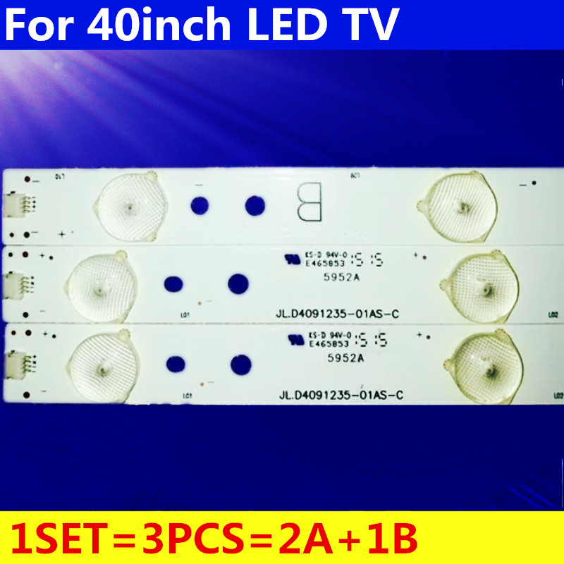 3pcs Led Strip Backlight Lamp For ERISSON 40LES73 40LES69 Philco Ph40e36dsgw Sp-led40 Jl.D4091235-01AS-C E465853