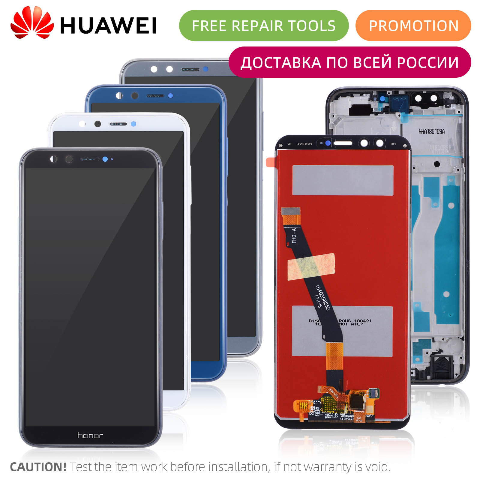 HOT SALE] Original Glass Battery Cover for HUAWEI Honor 9 Lite,Back
