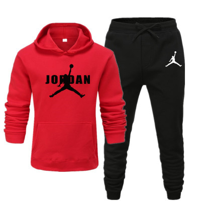 2019 Men Hoodies Suit Fleece Warm Jordan 23 Tracksuit Men Sweatshirt Suit Hoodie+Sweat Pants Jogging Hooded Tracksuit 3XL