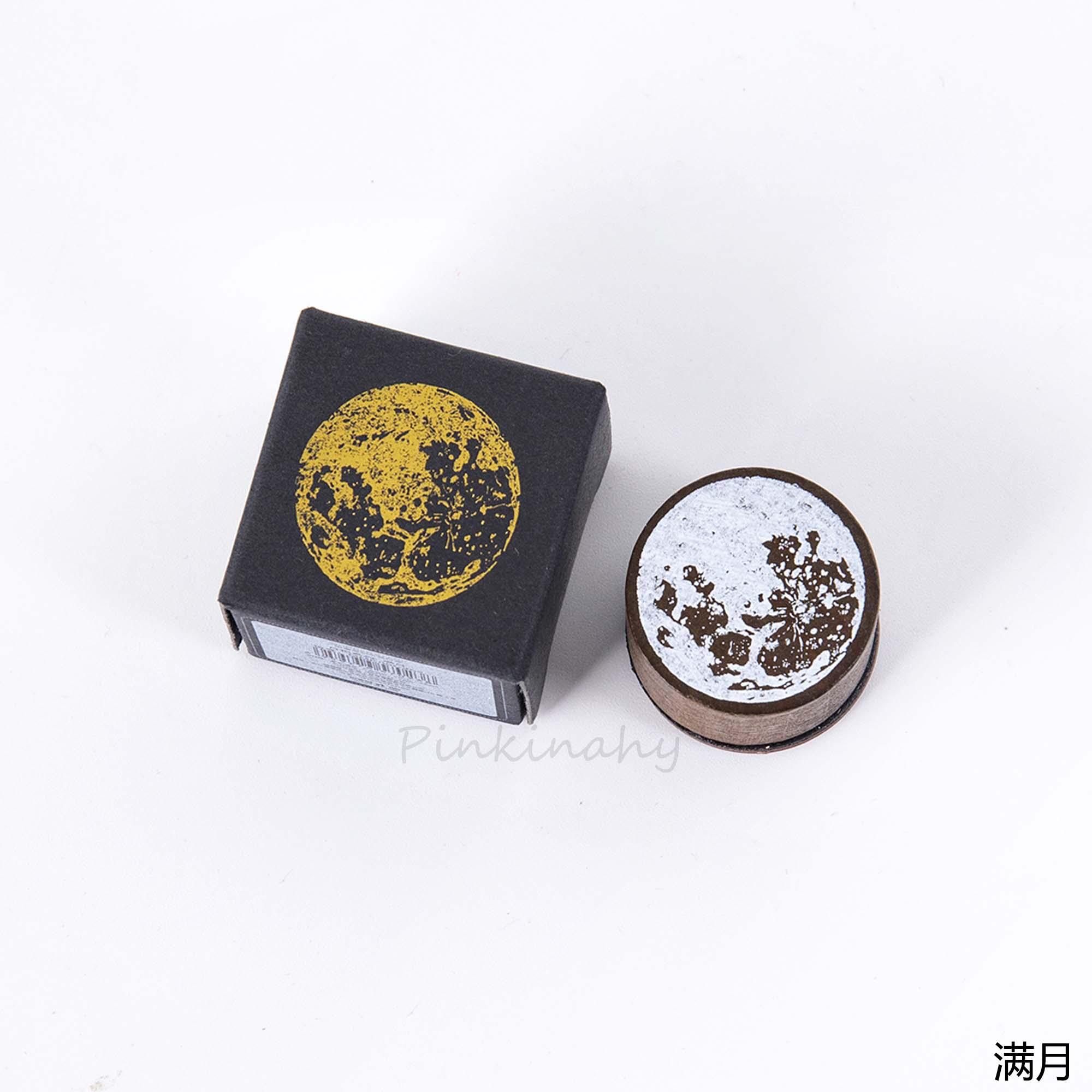 Винтажная фаза Луны деревянная печать планировщик деревянная резиновая печать набор для DIY Скрапбукинг Украшение для открыток тиснение ремесло - Цвет: 4