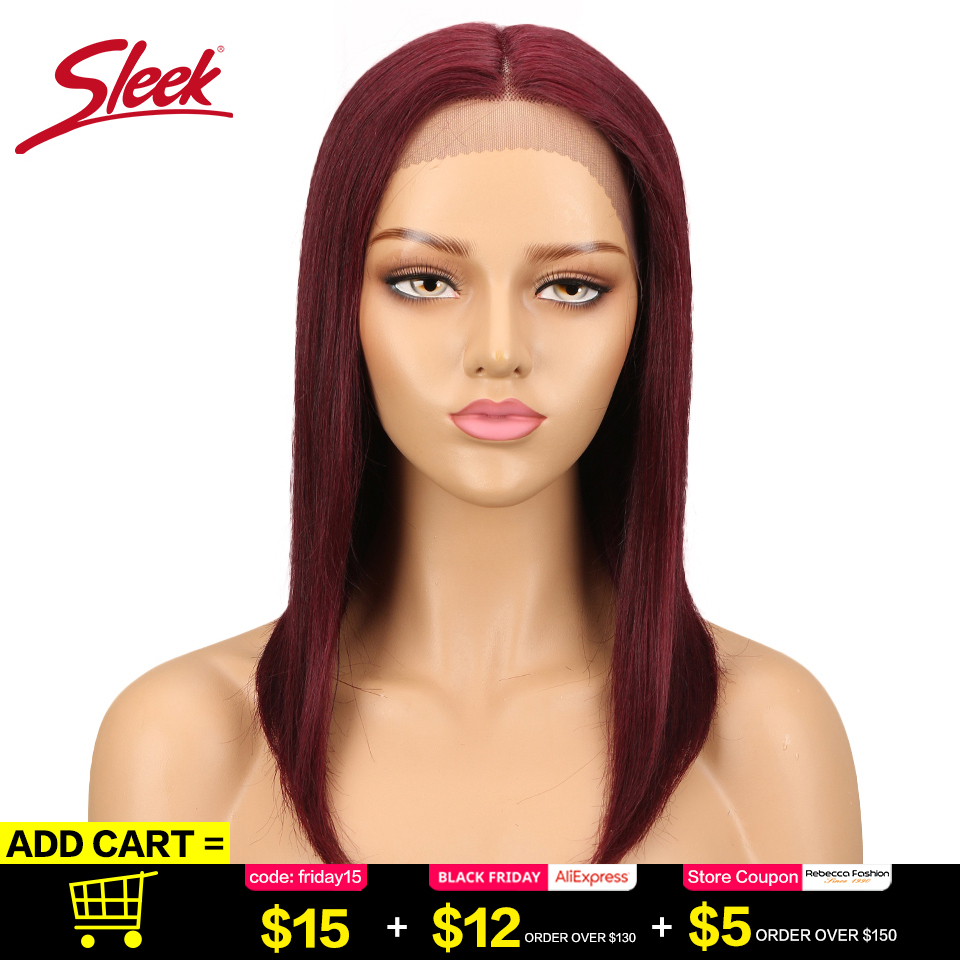 Sleek Peruvian Straight Lace Front Natural Human Hair Wigs Ombre Color 27#/30#/99J Weave Short BOB Remy Hair Wigs парики женские