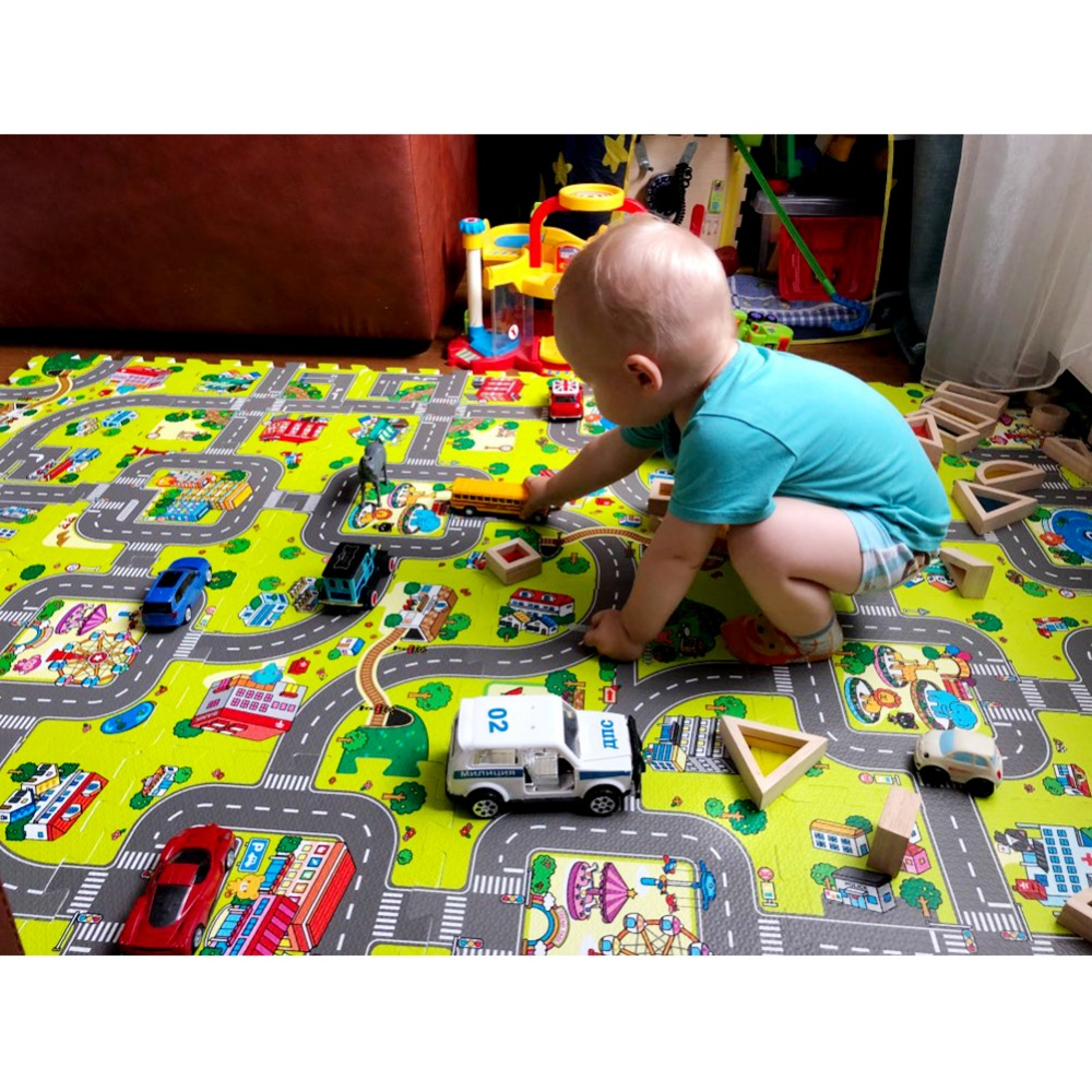 Each 9/18pcs Alot Play Mat Baby EVA Foam Play Puzzle Mat For Kids Interlocking Exercise Tiles Floor Carpet Rug