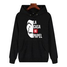La Casa De Papel Unisex Hoodies Money Heist Tees TV Series Streetwear Women/men House of Paper Funny Harajuku Casual Men Hooded