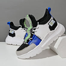 Мужские весенние синие уличные тренировочные кроссовки мужская