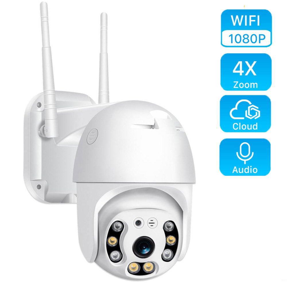 1080P Outdoor Speed Dome Wifi Camera IP 2MP H.265 Audio PTZ Wireless Camera Ai Cloud-SD Slot ONVIF Surveillance IP Camera IP Cam