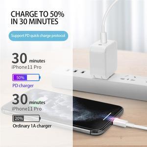 2021 быстрой зарядки 20 Вт USB-C Type-C кабель зарядного устройства для iPhone 12 Pro Max Мини 12Pro 11 Xs Xr X se 2020 ipad проволочные заряжающие провода