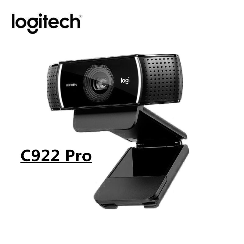 Original Logitech C922 PRO HD Webcam 1080P Web Cam Autofocus Built-in Microphone Full HD Camera With Tripod