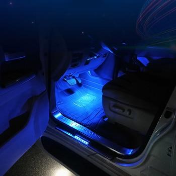 Lámpara de suelo para asiento Interior de coche, luces de ambiente, para Toyota Land Cruiser 200 LC200, Toyota Prado, Nissan Patrol Y62, 4 uds.