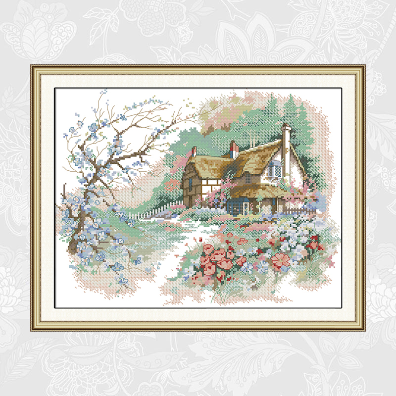 Needlework,Embroidery,DIY handwork Painting,The LOVE of the Countryside Cross stitch kits,11ct 14ct Cross-stitch Home Decor