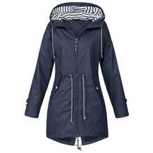 2020 Windproof Long Hooded Jackets Waist Tightening With Zip Thin Outwear Multi Color Autumn Winter Coat Sporting Outdoor Coats