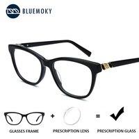 BLUEMOKY Acetate Prescription Glasses Myopia Women Optical Eyeglasses Frame Photochromic Eyewear Clear Computer Glasses 2019