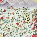 50 штук красивый цветок кружева Шлепанцы из ткани в клетку; С аппликацией в виде красочные цветным принтом с рисунком вишни для детей кружевн...