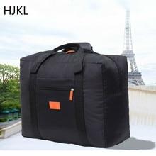 HJKL Korean Version of The Collapsible Aircraft Bag Waterproof Storage Large Capacity Travel Bag Nylon Portable Wear Luggage Bag