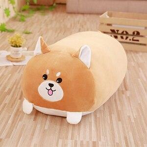 Image 3 - Novo animal macio dos desenhos animados travesseiro almofada bonito cão gordo/gato/totoro/pinguim/porco/sapo/shiba brinquedo de pelúcia recheado shiba crianças presente de aniversário