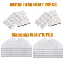 Mop Cloths filtr zbiornika wody dla Xiaomi Roborock S50 S51 S55 S6 S5 części generacji 2 suche mokre Mop tkaniny akcesoria