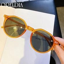 Rétro Rivet rond Orange lunettes de soleil femmes hommes 2020 mode noir lunettes de soleil femmes lunettes rétro couleur bonbon ombragé lunettes de soleil