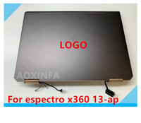13.3 inch LCD touch digitizer assembly for HP spectrum x360 2 in 1 laptop 13 ap complete top parts FHD UHD