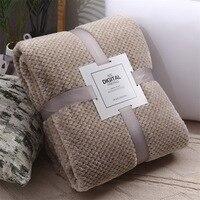 Inverno macio quente cobertores de flanela para camas sólido rosa azul cor coral velo vison lance sofá capa colcha manta cobertores