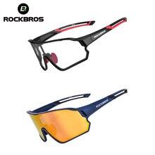 ROCKBROS Bicycle Glasses Unisex Cycling Polarized Photochromic Glasses MTB Road Bike Eyewear Outdoor