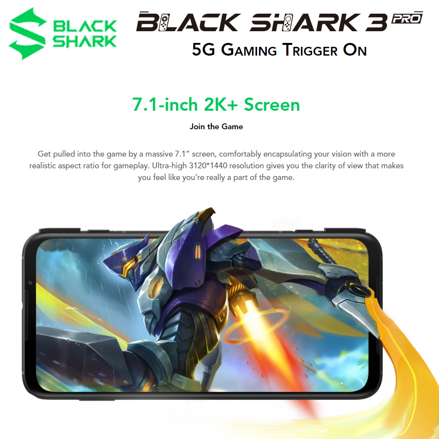 5G Phone Global Version Xiaomi Black Shark 3 Pro Game Mobile Phone 7.1