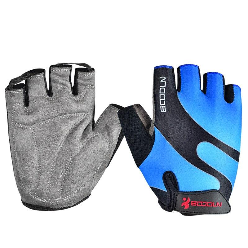 Купить с кэшбэком Brand Summer Men Women Cycling Gloves Half Finger Skate Gym Ftiness Airsoft Sport MTB Bike Bicycle Gloves for Kids Boys Girls