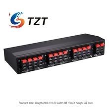 TZT Selector de altavoz estéreo de seis vías, amplificador de interruptor selectivo bidireccional B898