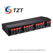TZT Six way Stereo Speaker Selector Switch Amplifier Selector Bidirectional Selective Switcher B898