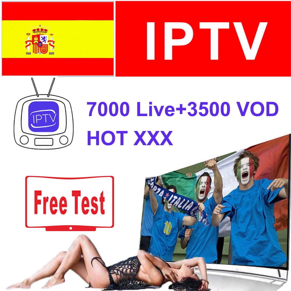 Spain IPTV Subscription 1 Year 200+ Full HD Spain Local Channels Live VOD Hot Xxx For Android Box Enigma2 Smart TV PC M3u Iptv