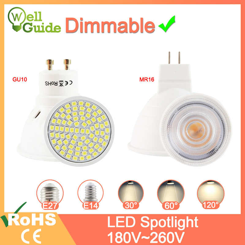 Lampe à LED réglable MR16 E27 GU10 E14 MR11 LED projecteur 6W 7W 8W 220V AC12V Spot LED ampoule Lampada Bombillas blanc chaud froid
