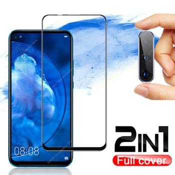 2in1 Full Cover Tempered Glass film Camera Lens For Huawei P30 Lite P40 Lite E P20 pro Screen Protector for honor 10i 10 20 Lite truck lite 99200r lens
