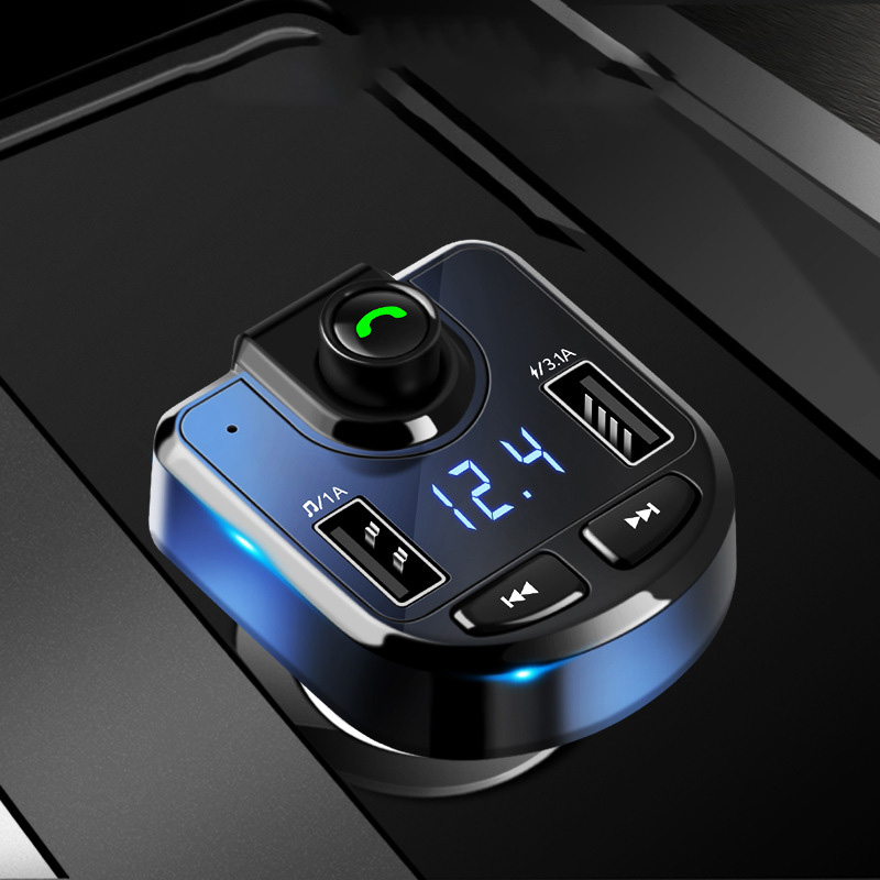 Multifunction Car <font><b>MP3</b></font> With <font><b>Bluetooth</b></font> Player Hands-free Calling Fm Card Machine Dual Usb Port For samsung For xiaomi For iphone image