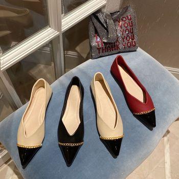 Eleganckie damskie buty kobieta 2020 obuwie damskie mieszane kolory casualowe buty sportowe szpiczasty nosek wszystkie mecze płytkie usta Modis nowa sukienka tanie i dobre opinie SLWFGT Podstawowe CN (pochodzenie) RUBBER Slip-on Pasuje prawda na wymiar weź swój normalny rozmiar Na co dzień Konopi
