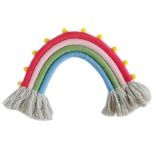Hand-knitted Rainbow Charm Childrens Room Medium Four Decoration Home