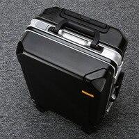 20/24/28 zoll PC Roller Trolley Gepäck Mode Reise Koffer Business Kabine Hohe Qualität Aluminium Legierung Rahmen fall Volle Größe