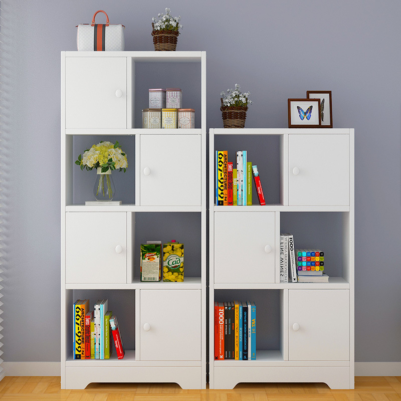 Simple Bookcase Floor Combined Bookcase Minimalist Modern Students Cabinet Sub-Creative Bookcase Storage Shelf