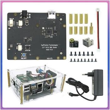 Raspberry X825 2.5 inch SATA HDD/SSD Storage Expansion Board Acrylic Case for Raspberry Pi 4B ( 4 Model B )