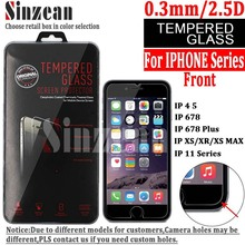 100PCS For iphone 12 5.4 6.1 6.7/SE 2020Tempered Glass for iphone 11 PRO MAX/XS MAX/XR/678 Plus  screen protector