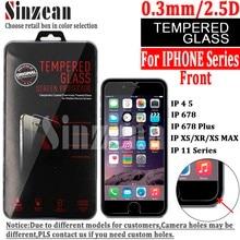 100PCSสำหรับIphone 12 5.4 6.1 6.7 /SE 2020 กระจกนิรภัยสำหรับIphone 11 PRO MAX/XS MAX/XR/678 Plus Screen Protector