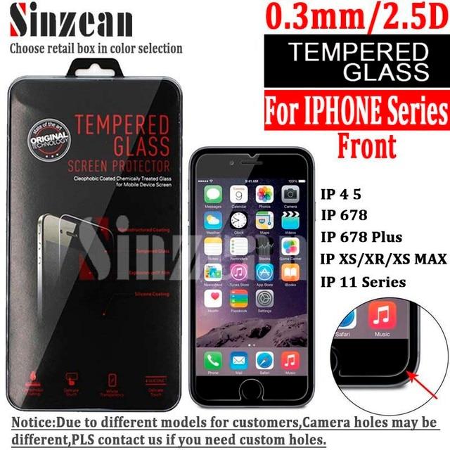"""Sinzean 100PCS 아이폰 12 5.4 """"6.1"""" 6.7 """"/678 플러스 아이폰 11 PRO MAX MAX/XR 스크린 프로텍터"""