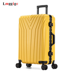 20 22 24'26 29 بوصة حقيبة حقيبة ، عجلة عالمية تحمل على ، ABS + PC الأمتعة ، سستة و الألومنيوم إطار حقيبة سفر ، عربة رحلة
